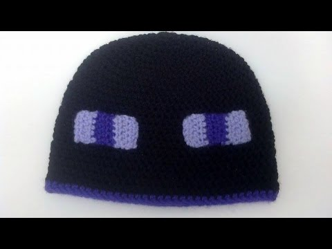 How To Crochet A Minecraft Enderman Beanie Hat Youtube
