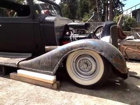 1934 Chevrolet 5 window master fender mock up
