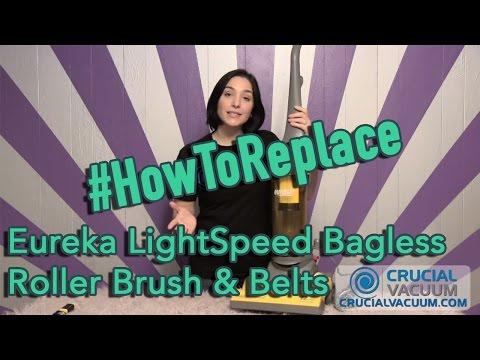Eureka LightSpeed Bagless Upright Roller Brush & Belts Replacement Parts 60252-1 61308-2 61120