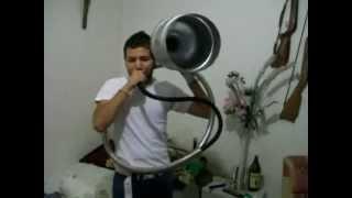 la tuba chicoteada  con tuba de garrafon