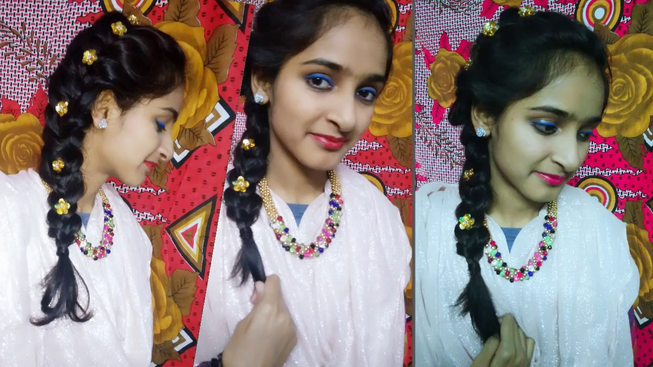 How To Make Side French Braid At Home Hindi Cute Braids Side