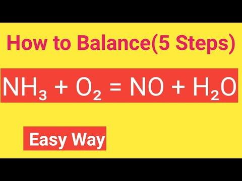 NH3 + O2 = NO + H2O  Balanced    Ammonia,Oxygen Equal To Nitrogen Monoxide+Water Balanced Equation
