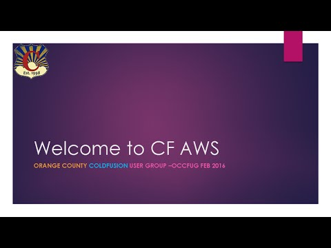 ColdFusion in the Cloud (AWS) Part 1 of 6