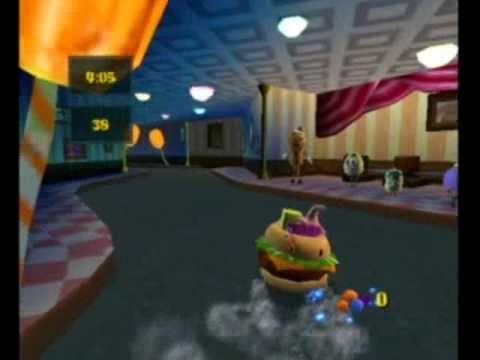 spongebob squarepants movie video game sundae driving