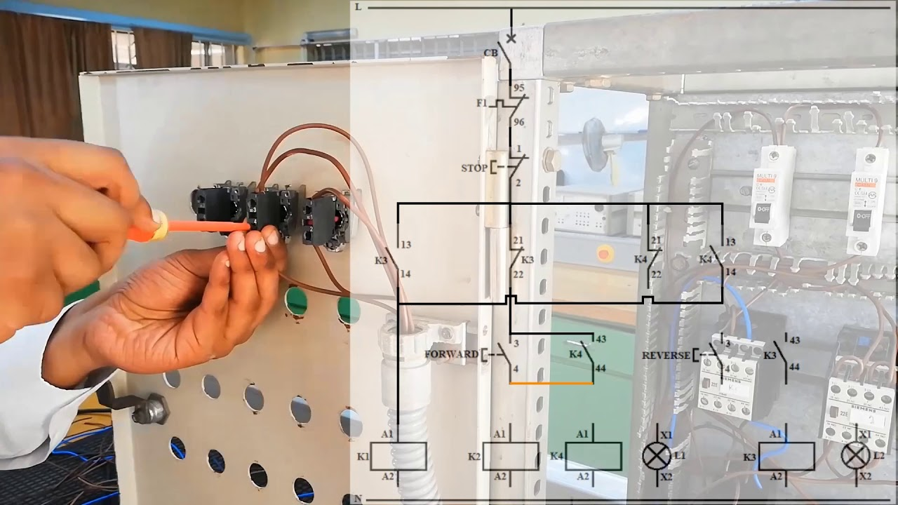Part2 Control Circuit  Forward Reverse Wiring Circuit For