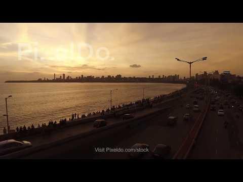 Marine Drive Mumbai  Aerial View