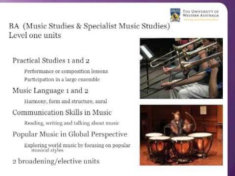 UWA Bachelor of Arts: options for studying Music