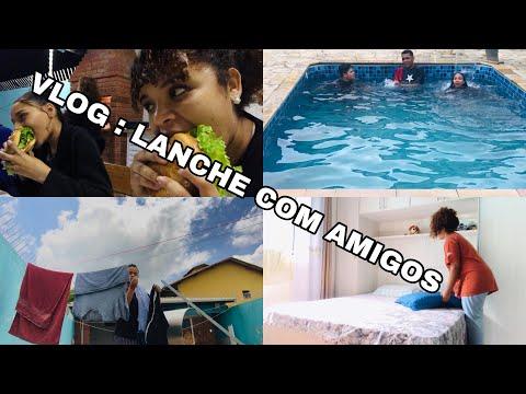 VLOG : PISCINA + AMIGOS + LANCHE NA CHURRASQUEIRA + CULTO - Leticia Isabelli