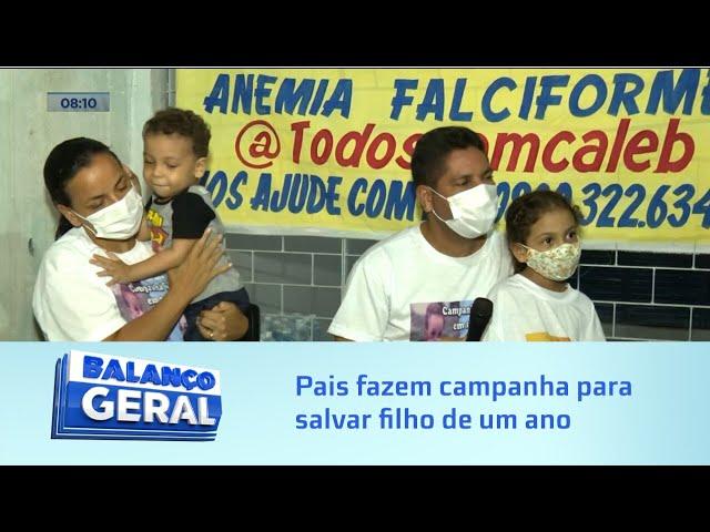 'Todos com Caleb': Pais fazem campanha para salvar filho de um ano com a anemia Falciforme