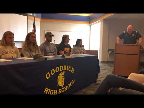 "2018 Spring ""Signing Day"" at Goodrich High School"