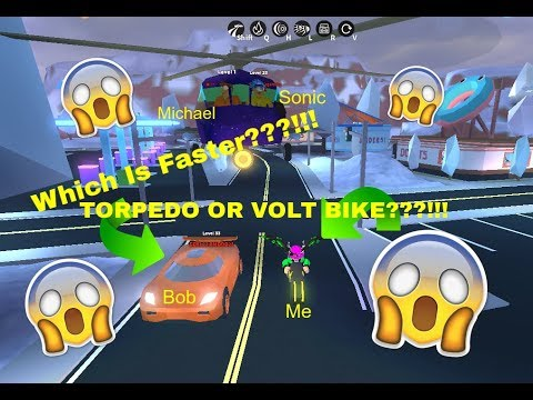Which Is Faster The Volt Bike Or The Torpedo Roblox