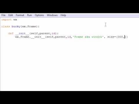 wxPython Programming Tutorial - 1 - Creating a Basic Frame