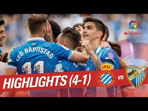 Resumen de RCD Espanyol vs Málaga CF (4-1)