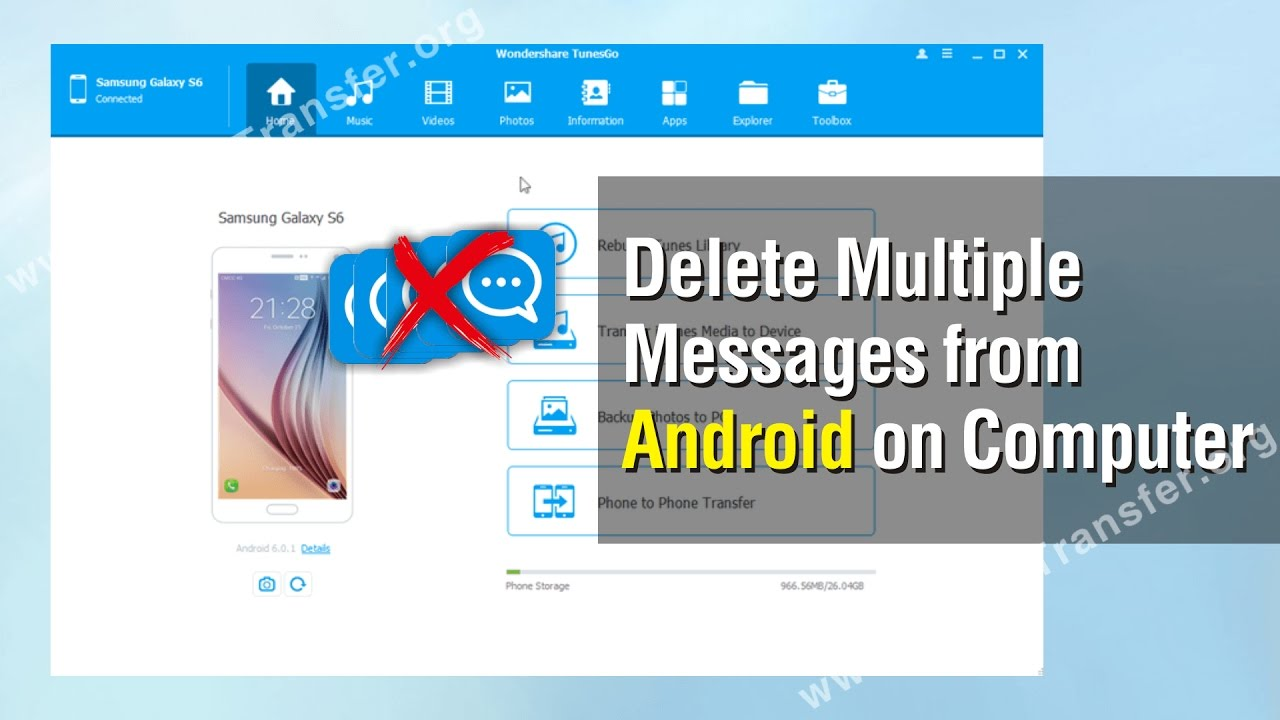 How to Delete Multiple Messages from Android Phone on Computer, Erase SMS  from Android Devices