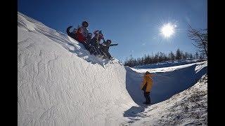 Магадан, Медвежка, Птичий, 11 человек на 3-х на снегоходах РМ Тайга Патруль.