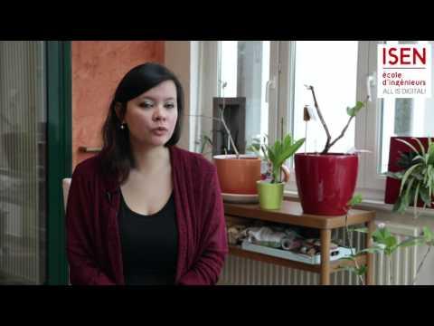 Andréa - Étudiante à l'ISEN en double diplôme au Québec (UCAQ)