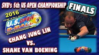 SVB's record-tying 5th US Open win: 2016 US OPEN 9-BALL: Chang Jung-Lin vs. Shane Van Boening