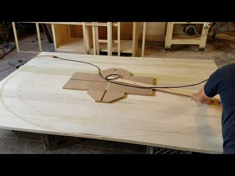 Plunge Cutting A Big 8'x6' Oval Tabletop From 5/4 Poplar