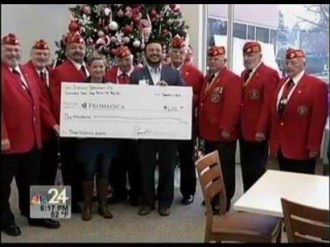 NBC 24: Marine Corps League makes donation to ProMedica Toledo Children's Hospital