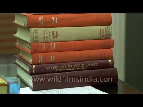 Hindu holy books: Rig, Sama, Atharva and Yajur Vedas