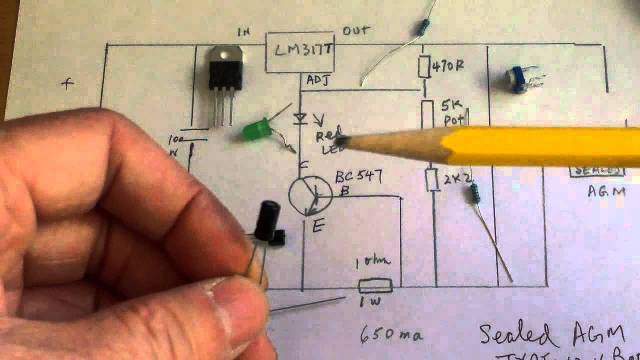 hight resolution of simple solar charge regulator for 12 volt sealed lead acid or agm battery pt 1 youtube