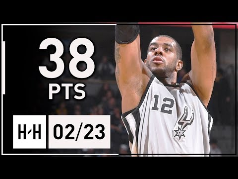 LaMarcus Aldridge Full Highlights Spurs vs Nuggets (2018.02.23) - 38 Points!