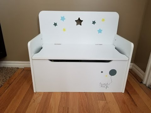 Timy Wooden Kids Storage Bench Toy Chest White Youtube