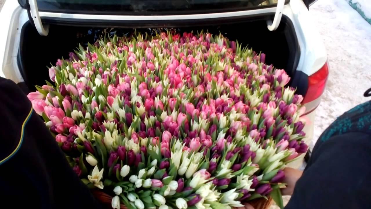Композиция из живых цветов с использованием флористической губки .