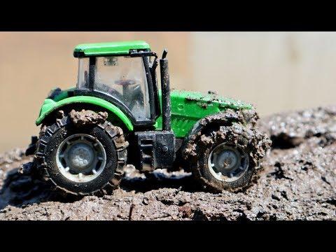 видео: Трактора в грязи. Видео с игрушечными тракторами. Машины для детей