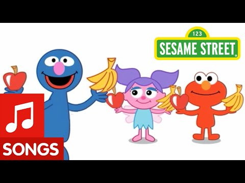 Sesame Street: Apples & Bananas Song | Animated Nursery Rhyme