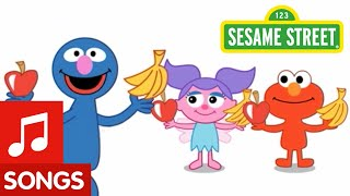 Sesame Street: Apples & Bananas Song | Animated Nursery Rhyme