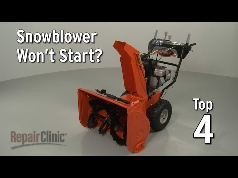 Snowblower Not Starting? Snowblower Troubleshooting