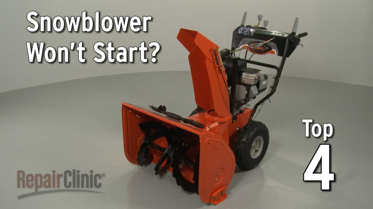 snowblower not starting snowblower troubleshooting [ 1280 x 720 Pixel ]