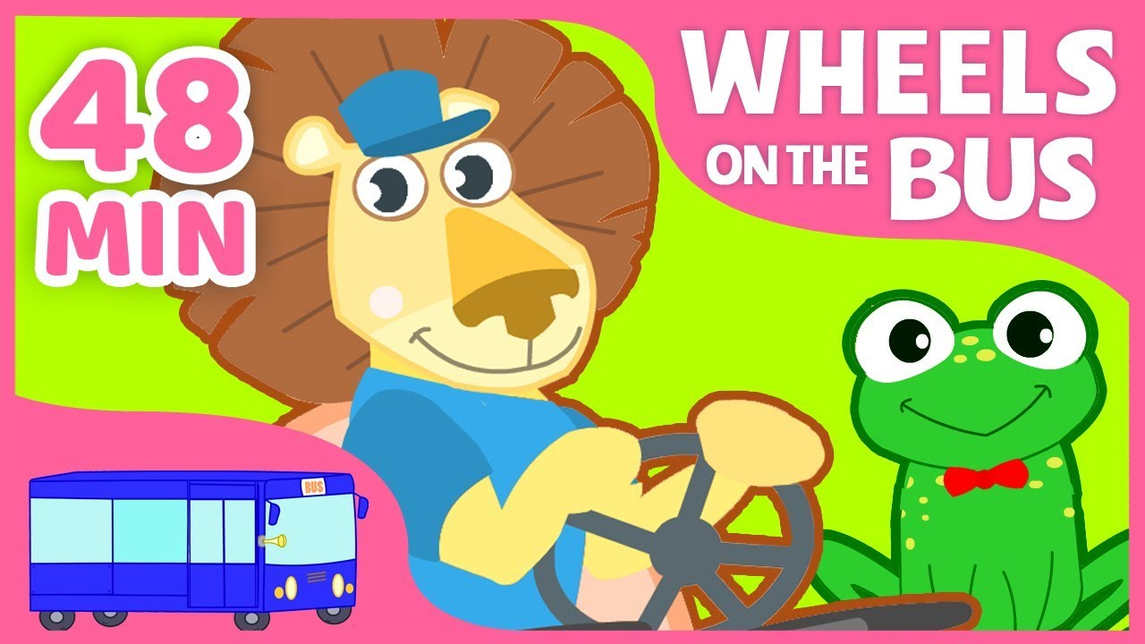 The Wheels on the Bus + More English Nursery Rhymes for ...