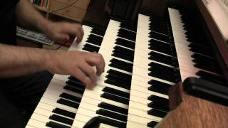 "JS BACH Choral Schübler BWV 646 ""Wo soll ich fliehen hin"" Hauptwerk  Orgue Trost Waltershausen."