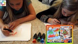 Набор для творчества 3d MAGIC toy MAKER, делаем объёмные зверюшки 3Д принтер игрушки мэйкер, Радужки(Распаковка набора для творчества 3Д принтер magic maker. Привет!Сегодня мы распакуем набор для творчества 3d MAGIC..., 2016-04-02T07:30:00.000Z)