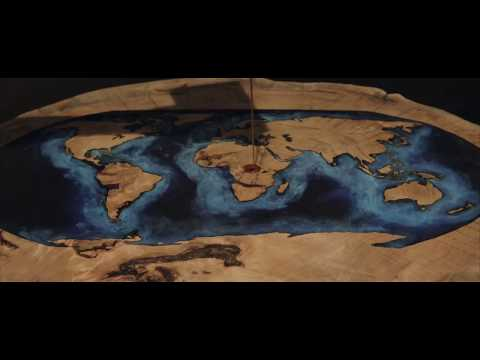 Tavoli In Resina Epossidica E Legno.Wood And Epoxy Resin Table Globe 2 0 Made By Ghecipol Youtube