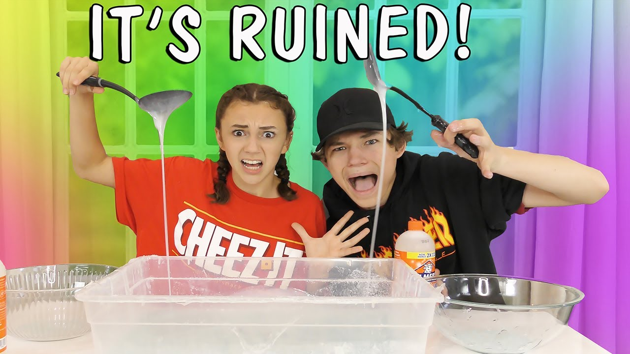 Who Makes This Ruined Slime Better Challenge? | We Are The Davises
