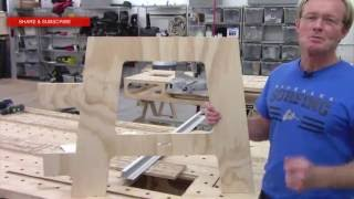 BUILDING THE PAULK COMPACT BENCH( PART 2) SAWHORSE TEMPLATE