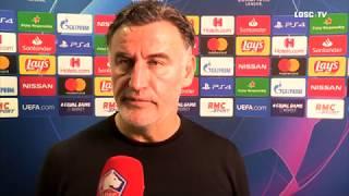 VIDEO: Après LOSC-AJAX, Christophe Galtier salue les supporters