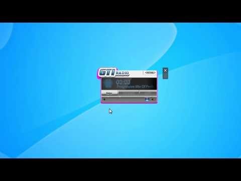 GTI Radio Windows 7 Desktop Gadget