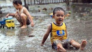 Tik tik bunyi hujan | Suara hujan | anak anak bermain hujan