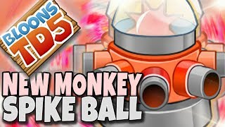 NOWA MAŁPKA ▪ SPIKE BALL SHOOTER ▪ Bloons TD5 MODS PL