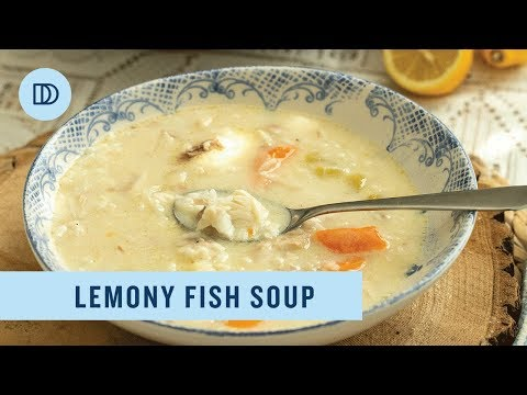 Greek-Stye Lemony Fish Soup: Psarosoupa