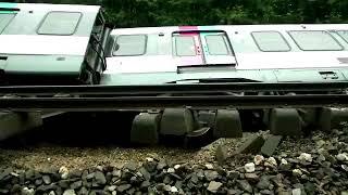 Déraillement dun RER B suite à un  glissement de terrain : les images