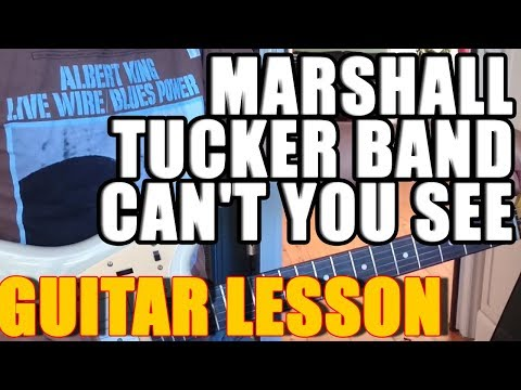 Marshall Tucker Band - Can't You See : Guitar Lesson