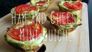 Leek Ham And Cheese Mini Quiche