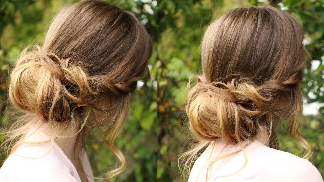 Hair Styles For Summer: Chignon Hairstyle Tutorial / Soft Updo