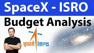 Space X and ISRO Budget Analysis and Comparison - Space science, astronomy current affairs 2018