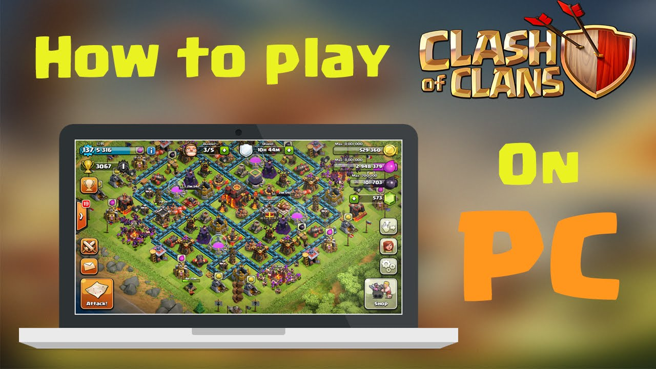 how to play clash of clans on pc ios